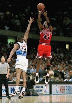 Michael Jordan Takes Shot
