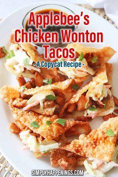 Wonton Sauce Recipe, Chili Sauce Recipe, Wonton Recipes, Chicken Taco Recipes, Appetizer Recipes, Marinated Chicken Recipes, Appetizer Ideas, Party Recipes, Drink Recipes