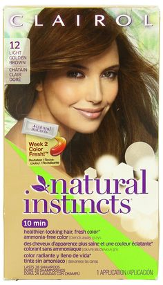 Clairol Natural Instincts Haircolor, Toasted Almond Light Golden Brown 12 ** Find out more at the image link. #hairrepair