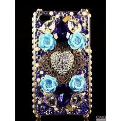 iPhone 5 Swarovski Crystal Bling Diamante Case Cover - I HEART YOU