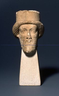 Achaemenid Limestone Head of a Persian Male Figure 6th-4th cent.BCE Miho Museum