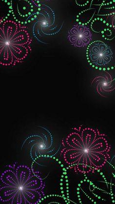 Colorful Flower Bursts on Black Wallpaper Iphone 6 Wallpaper, Cellphone Wallpaper, Screen Wallpaper, Aesthetic Iphone Wallpaper, Mobile Wallpaper, Wallpaper Backgrounds, Colorful Backgrounds, Phone Wallpapers, Phone Backgrounds