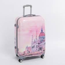 Female 28 inch pink pc hardside trolly luggage bag on universal wheels palace travel case,fairy tale Palace duffle bag Luggage Sets Cute, Girls Luggage, Luggage Bags, Betsey Johnson Luggage, Hard Sided Luggage, Cute Suitcases, Unicorn Fashion, Baby Doll Nursery, Barbie Wedding Dress