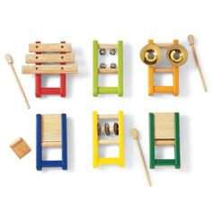 $55.90 PINTOY 02511 Musical Instruments Set of 6