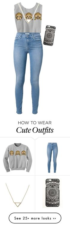 """""""A school outfit that's got style"""" by annafiamingo on Polyvore featuring 7 For All Mankind and Banana Republic"""
