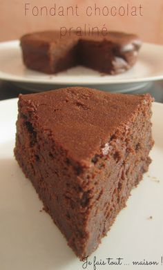 Fondant au mascarpone, chocolat et praliné !: Fondant with mascarpone, chocolate and praline! Gourmet Recipes, Sweet Recipes, Cake Recipes, Dessert Recipes, Gourmet Foods, Chocolate Candy Recipes, Bakers Chocolate, Praline Chocolate, Chocolate Fondant