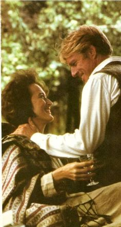 """""""I'm very shy and Meryl's very shy"""" ~ Robert Redford. Out of Africa film set."""