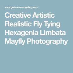 Creative Artistic Realistic Fly Tying Hexagenia Limbata Mayfly Photography