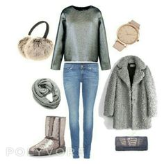 """Winter stardust"" by raffaellapapami on Polyvore Shoe Bag, Winter, Polyvore, Stuff To Buy, Shopping, Collection, Design, Women, Fashion"