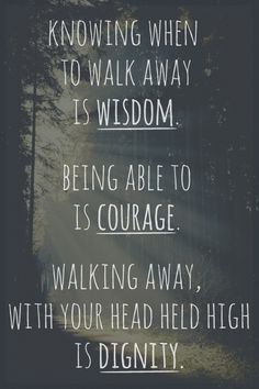 Walking away  . . .