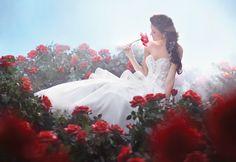 Belle inspired wedding dress