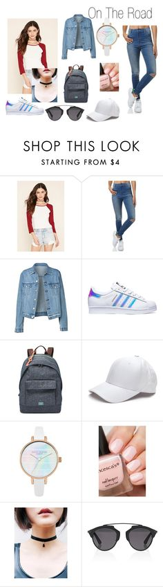 """On The Road"" by abydallas on Polyvore featuring mode, Forever 21, Wrangler, adidas, FOSSIL et Christian Dior"