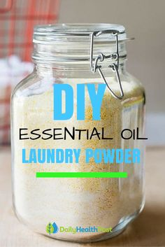 Homemade Essential Oil Laundry Powder You Can Make In Minutes For Clean Fresh-Smelling Clothes.The Natural Way To Get Clean Clothes That Smell Good and Healthy!