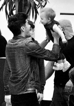 Zayn with Baby Lux.