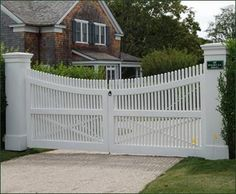 large driveway gate posts white picket fence - Saferbrowser Yahoo Image Search Results