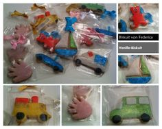 Kinder Biscuit with car, bus, boat