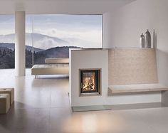 HKD the modern tiled stove - Fireplace Fireplace Beam, Modern Fireplace, Fireplace Design, Freestanding Fireplace, Japanese Home Decor, Modern Rustic Homes, Apartment Living, Hearth, Interior Design Living Room