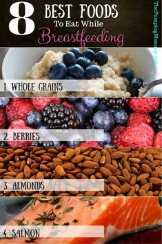8 Best Food to Eat While Breastfeeding! If you need a #BoostInYourMilkSupply or just looking to #MaintainAHealthyMilkSupply, then eating foods known for #IncreasingYourSupply is a must! Find out what the #BestFoodstoEatWhileBreastfeeding are by visiting ThePumpingMommy.com!