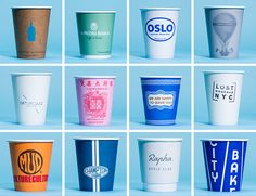 Gear Patrol provides a nifty visual survey of NYC Take-out Coffee Cups displaying the diversity the city is so famed for
