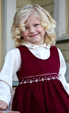 Girls Holiday burgundy dress and embroidered blouse – Carousel Wear