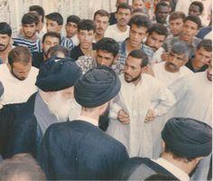 السيد الشهيد محمد محمد صادق الصدر قدس سره الشريف مع بعض مقلديه ومحبيه
