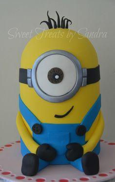 Minion Cake - by sweettreatsbysandra @ CakesDecor.com - cake decorating website