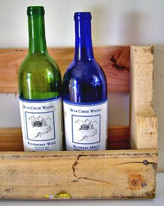 Pallet wine racks.