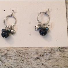 Lia Sophia Earrings Blue And Silver