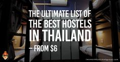 Searching for the best hostels can be a bit overwhelming, with so many to choose from. The ultimate list of the BEST HOSTELS in Thailand, all in one place!