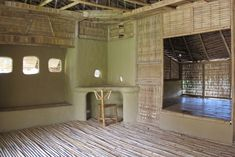 Wattle & Daub is an earth construction technique combining woven bamboo splits and clay Bamboo Building, Natural Building, Green Building, Building Ideas, Natural Architecture, Bamboo Architecture, Wattle And Daub, Mud House, Bamboo Construction