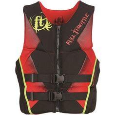 Full Throttle Men's Hinged Rapid-Dry Flex-Back Vest, Red