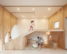 Image 5 of 19 from gallery of Designing School Playgrounds: Architecture for Learning Outside the Classroom. Photograph by Ketsiree Wongwan Playground Design, Indoor Playground, Play Spaces, Kid Spaces, Design D'espace Public, Architecture Design, Classroom Architecture, Kids Cafe, Kindergarten Design