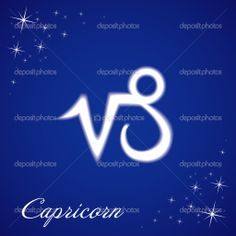 capricorn zodiac sign | Capricorn sign of the zodiac — Stock Vector © Roman Volkov #4583077