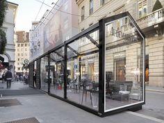 GLASS HOUSE COLLEZIONE STRUTTURE ESPOSITIVE PER ESTERNO BY CAGIS | DESIGN CAGIS