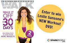 Win a Copy of Leslie Sansone's Newest Walking DVD! Giveaway closes Aug. 30 so enter today! | via @SparkPeople #WATP #walk #fitness #DVD #workout #exercises #contest