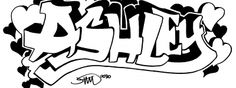 """ashley"" - A graffiti peice of the name ""ashley"" Graffiti My Name, Graffiti I, Graffiti Drawing, First Names, I Tattoo, Coloring, Wallpaper, Drawings, Art"
