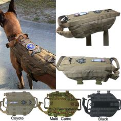 Tactical Dog K9 Training  Molle Vest Harness (5 Sizes)