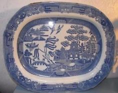 18th Century Staffordshire Pearlware Platter Ashette Willow Patt Pottery English in Pottery, Porcelain & Glass, Date-Lined Ceramics, Pre-c.1840 | eBay
