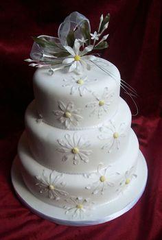 Daisy Wedding Cake, Simple but elegant