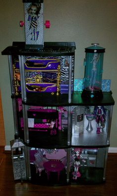 Monster high doll house.