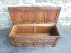 Antique Panelled Oak Blanket Box   495843   Sellingantiques.co.uk