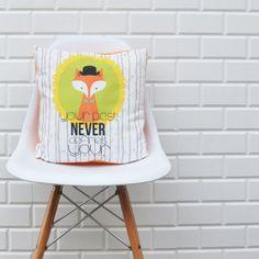 Fox Printed Decorative Pillows Kids Pillow Kids by LoveJoyCreate, $36.00