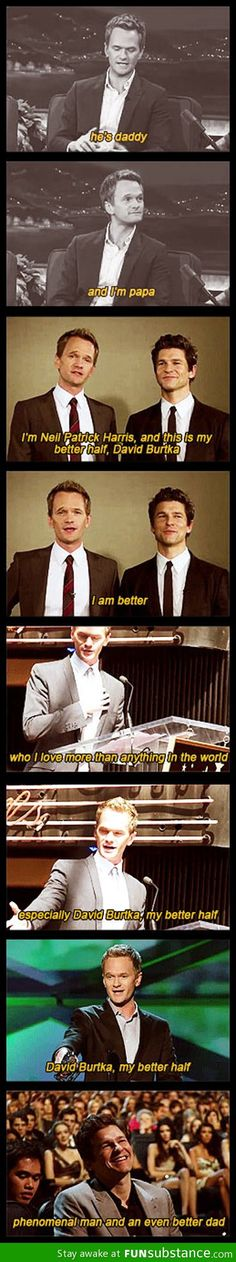 nph is amazing :) and he and david burtka are an insanely gorgeous couple