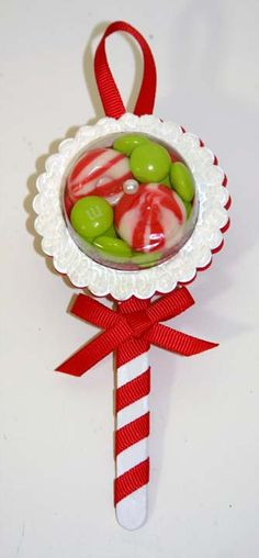 idea for candy holder. Would be cute for a baby shower.