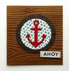 Card nautical - MFT Go overboard stamp Let´s get nautical dies, anchor - kort nautisk maritimt - koøje anker Go overboard stamp - Karte maritim - Kort maritimt nautisk #mftstamps - JKE
