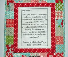 quilter out there this is perfect for the quilter or sewer that does not sew but, crafts, The site is above for the PDF and instructions