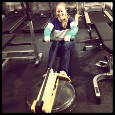 @Leisure Fitness - @Taylor Biblo testing out the #waterrower at Leisure Fitness! #exercise #workout #health #healthyliving #befitstayfitlivewell #picoftheday #instafit #fun #leisurefitness #fitness #instaphoto