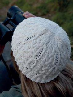 Cotton cable knit hat