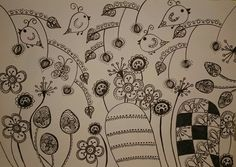 Zentangle spring is in the air! By GewooN-MooN