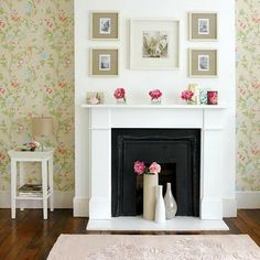 Nonworking or faux fireplaces can be just as charming as the real thing, don't you think?